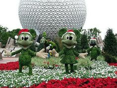 Epcot in the holiday spirit!