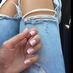 American manicure~ I like this so much better than the French manicure because with the American manicure the base color is more pink than nude