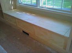 Image result for plywood window seat