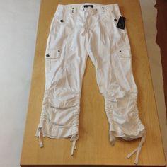 Authentic INC International Concepts cargo pants Authentic INC International Concepts cargo pants in white. NWT. INC International Concepts Pants