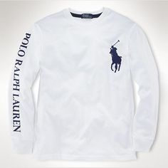 Ralph Lauren Classic Fit Long Sleeved Tee White