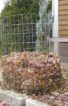 Simple Tips for Composting  i like easy compost bins made of wire fencing