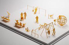 1/100 SCALE ARCHITECTURAL MODEL ACCESSORIES SERIES No. 18 Park 2