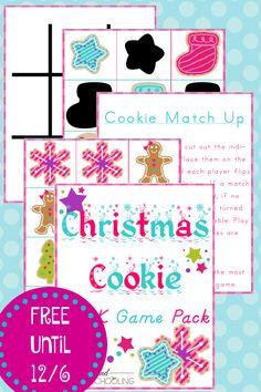 Free Christmas Cookie Pre-K Game Printable Pack!