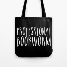 Professional bookworm - Inverted Tote Bag