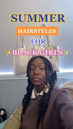 Cute Natural Hairstyles, Black Girl Braided Hairstyles, Natural Hair Braids, Curly Hair Tips, Curly Hair Care, Braids For Black Hair, Natural Hair Care, Black Women Hairstyles, Summer Hairstyles