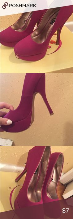 Rue 21 . Worn once heels ! Magenta color worn once . High heels Rue 21 Shoes Heels