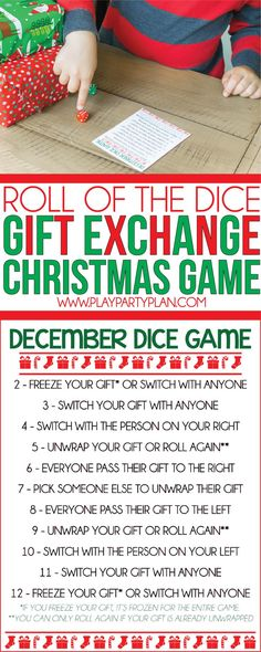 If you're looking for Christmas party games, you're in the right place. These 10 Christmas gift exchange games are hilarious and a perfect alternative to the traditional white elephant gift exchange game! Tons of funny idea for adults, for groups, for kid Christmas Gift Exchange Games, Christmas Games For Adults, Xmas Games, Holiday Games, Christmas Activities, Christmas Party Ideas For Teens, Holiday Ideas, Office Gift Exchange Ideas, Gift Exchange Themes