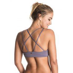 Womens Strappy Me Crop Separate Bikini Top ERJX303222 Roxy