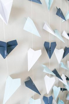 Multi Colored Paper Airplane Backdrop Wedding Ceremony