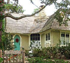 Carmel, Ca. http://talesfromcarmel.com/2011/04/06/hugh-comstocks-fairytale-cottages-by-the-sea/