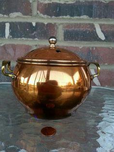Copper Plated Potpourri Pot w/Handles & Knob on top in Home & Garden, Home Décor, Home Fragrances | eBay