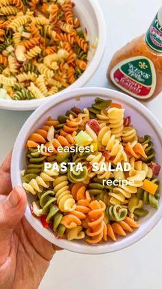 Healthy Pasta Salad, Easy Pasta Salad Recipe, Best Pasta Salad, Veggie Pasta, Healthy Pastas, Easy Cold Pasta Salad, Pasta Salad For Kids, Summer Pasta Salad, Broccoli Pasta
