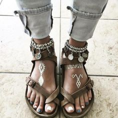 "I'm always coming for Gram's ""toe sandals"" but I'll admit these are fierce af."