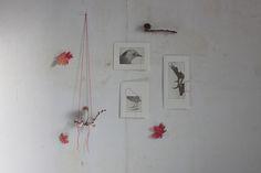 red thread, leaf silhouettes, designskool for Gardenista