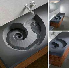 Ammonite sink.  So beautiful.