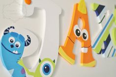 Monsters's Inc Inspired Wooden Nursery Letters by KraftinMommy