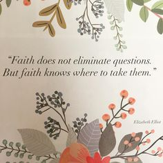 Free Printable! Faith Does Not eliminate questions