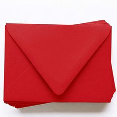 Amazon.com : A2 Gmund Colors Matt Scarlet Red Envelopes - Euro Flap, 68T, 25 Pack : Office Products