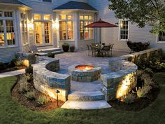 A stone pool deck or patio will add natural beauty and warmth to your backyard landscape. You may choose to incorporate a small patio area to complement your home or install a new pool deck with the style and easy maintenance of pavers. Concrete Patios, Concrete Patio Designs, Backyard Patio Designs, Patio Ideas, Pavers Patio, Porch Ideas, Outside Fire Pits, Outside Patio, Fire Pit Backyard