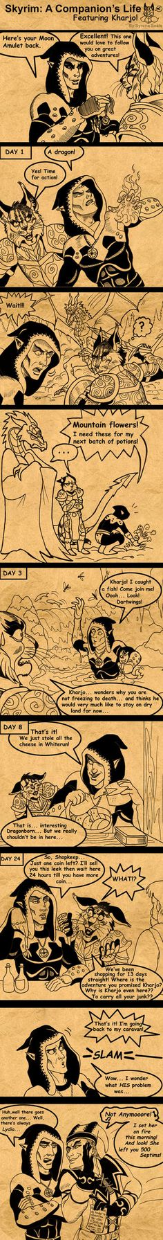 Skyrim A Companion's Life by =SlayerSyrena on deviantART