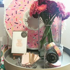 Tickled pink with Daily Like Washi tapes, Lilikoi letterpress gift cards, swing tags and fresh flowers.  www.thepaperempire.com.au