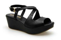 Nu-pieds compensés LOLA ESPELETA ROLLING Noir - Chaussures femme