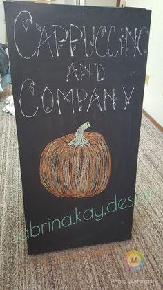 Chalkboard Art- Fall pumpkin  #sabrina.kay.design @sabrina.luke -instagram @sabrinakluke -Pinterest