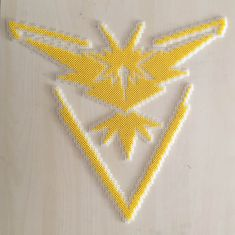 Pokemon Go Team Instinct perler beads by Szilvi