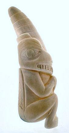 Beaver - Whale Tooth Inuit Carving.
