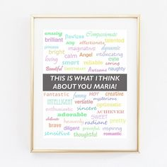 Poster Gift for Her Printable File by OMyGlam on Etsy