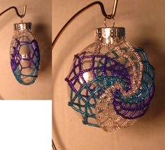 Spiral Ornament Cover Tutorial only by Violetbead on Etsy, $6.00