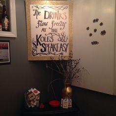 My roaring 20s Party:  Speakeasy Entrance