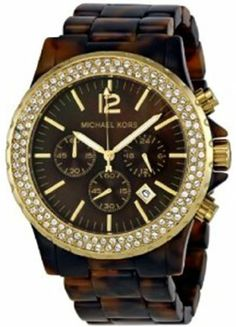 32386bd81450 Ladies Brand New Michael Kors Chrono Oversize Madison Tortoise Watch