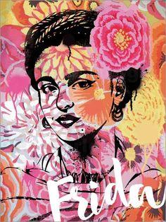 Frida Kahlo Pop Art - © Nory Glory Prints - Bildnr. 630477