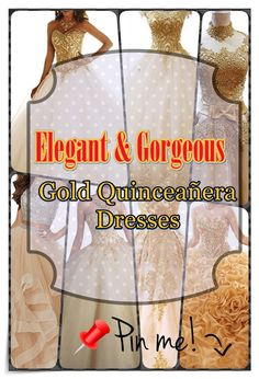 Quinceanera Guide - Gold Quinceanera Dresses In Autumn Shades. Choose one of these Gold quinceanera gowns for your big day! Different Dresses, Different Patterns, Fantasy Party, Quince Dresses, Sweet 16 Dresses, Coming Of Age, Queen, Quinceanera Dresses, Gold Dress