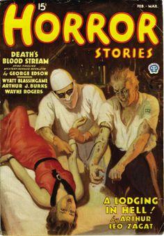 HORROR STORIES #pulp #fiction #art #vintage #cover