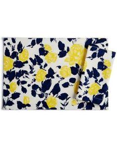 kate spade new york Garden Rose Cotton Napkin - Navy/yellow