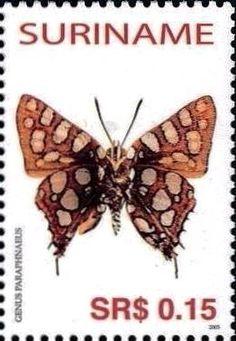 Stamp Lycaenid Butterfly Parpahnaeus Suriname Butterflies MiSR 1967SnSR 1323c