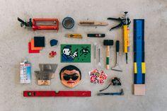 Essentials: Invader Top Art Schools, Edc Essentials, 8 Bit Art, Space Invaders, Work Tools, Super Glue, Street Artists, French Artists, Clothes Horse