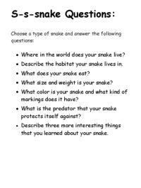 Snake Activities
