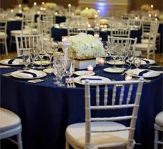 Navy blue wedding decorations in category Wedding Ideas Blue Wedding, Wedding Table, Wedding Colors, Wedding Reception, Dream Wedding, Wedding Day, Trendy Wedding, Reception Table, Elegant Wedding