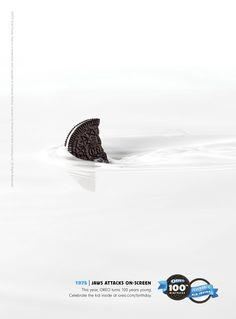 Oreo Ads 100th Birthday - Jaws Attacks On Screen