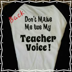 Back of a shirt with the teacher monogram!