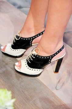 Kate Spade New York, Spring 2013-What is my deal with the saddle shoe look?  Like it a lot ;)