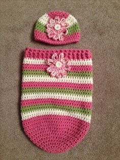 Baby girl sleep sack and hat