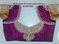 South Indian Blouse Designs, Best Blouse Designs, Simple Blouse Designs, Blouse Back Neck Designs, Bridal Blouse Designs, Pattu Saree Blouse Designs, Sari Design, Designer Blouse Patterns, Embroidery Works