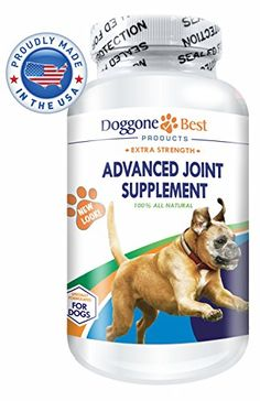 Glucosamine for Dogs  Chondroitin and MSM  Best Joint Supplement for Dogs  Omega 3  6  Arthritis Pain Relief  Increases Mobility  Reduces Inflammation Due to Hip Dysplasia  Chewable Tablets  Made in the USA * Find out more about the great product at the image link.