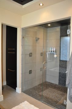 Master Bath Spa Retreat, My remodel of our mid 90s master bath to a modern spa retreat.  The tiring old wallpaper had to go so I took that down and a little more.  Majority of the walls were gutted down to the studs and rebuilt to what you see.  The floating mirrors are a DIY first for me.  I also custom built the vanity, built-ins, and custom tub surround.  The last build was our custom closet, but I'll save that for another 'rate my space' review. , Full Kohler Digital Shower System…