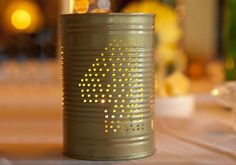 20 DIY Wedding Table Number Ideas | Confetti Daydreams - DIY Tin Can Table Numbers. Get our DIY Tips here! ♥  ♥  ♥ LIKE US ON FB: www.facebook.com/confettidaydreams  ♥  ♥  ♥ #Wedding #Decor
